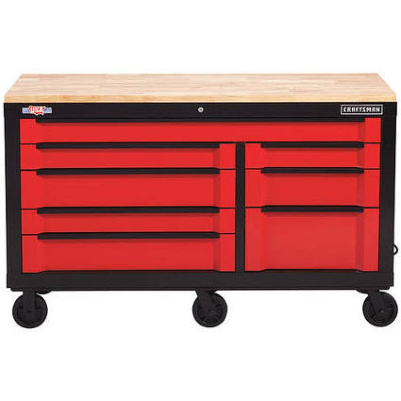 CRAFTSMAN 3000 H 8-Drawer Steel Rolling Tool Cabinet (Red) Series 63-in W x 37-in
