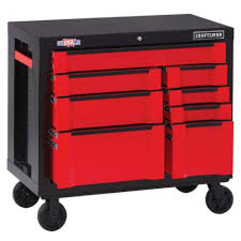 CRAFTSMAN 3000 Series Steel Rolling Tool Cabinet (Red) 41-in W x 37-in H 8-Drawer