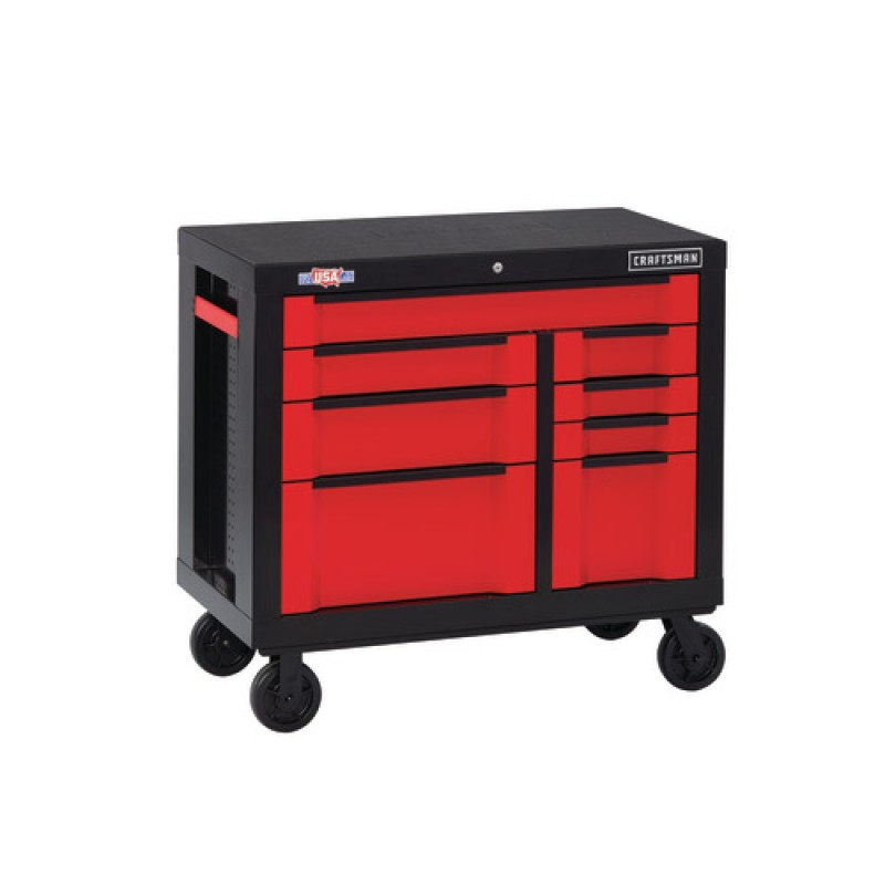 CRAFTSMAN 3000 Series Steel Rolling Tool Cabinet (Red) 54-in W x 37-in H 8-Drawer