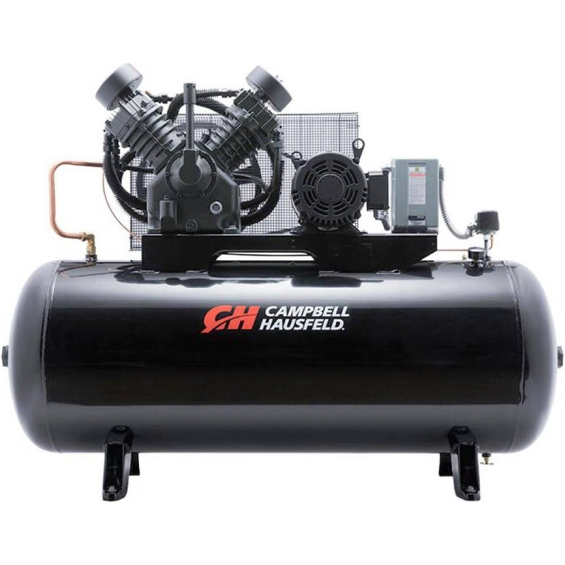 Campbell Hausfeld Two-Stage Air Compressor , 34.1 CFM 175 PSI, 208-230-460 Volt Three Phase, 10 HP