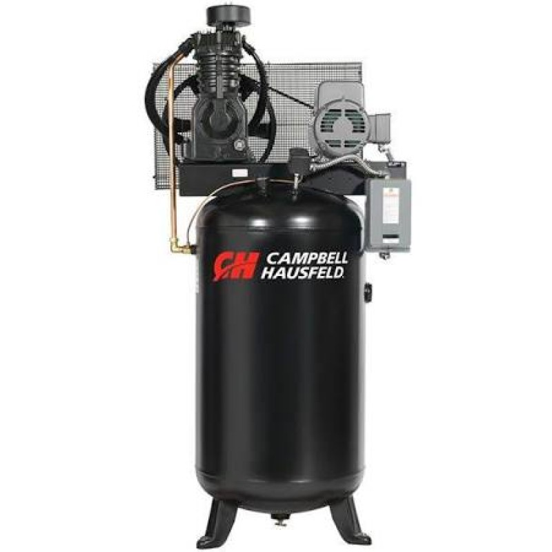 Campbell Hausfeld Two-Stage Air Compressor, 16.6 CFM 175 PSI, 230 Volt Single Phase - 5 HP