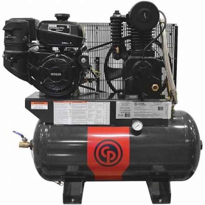 Chicago Pneumatic Gas-Powered Air Compressor, 30 Gallon - 11 HP
