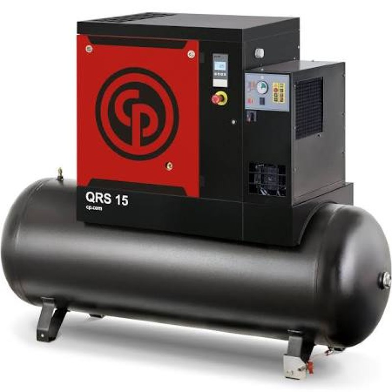 Chicago Pneumatic Quiet Rotary Screw Air Compressor with Dryer, 230 Volts, 1 Phase - 5 HP