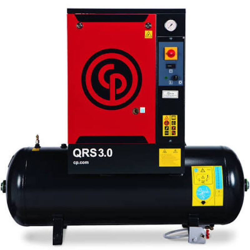 Chicago Pneumatic Quiet Rotary Screw Air Compressor, 230 Volts, 1 Phase - 5 HP