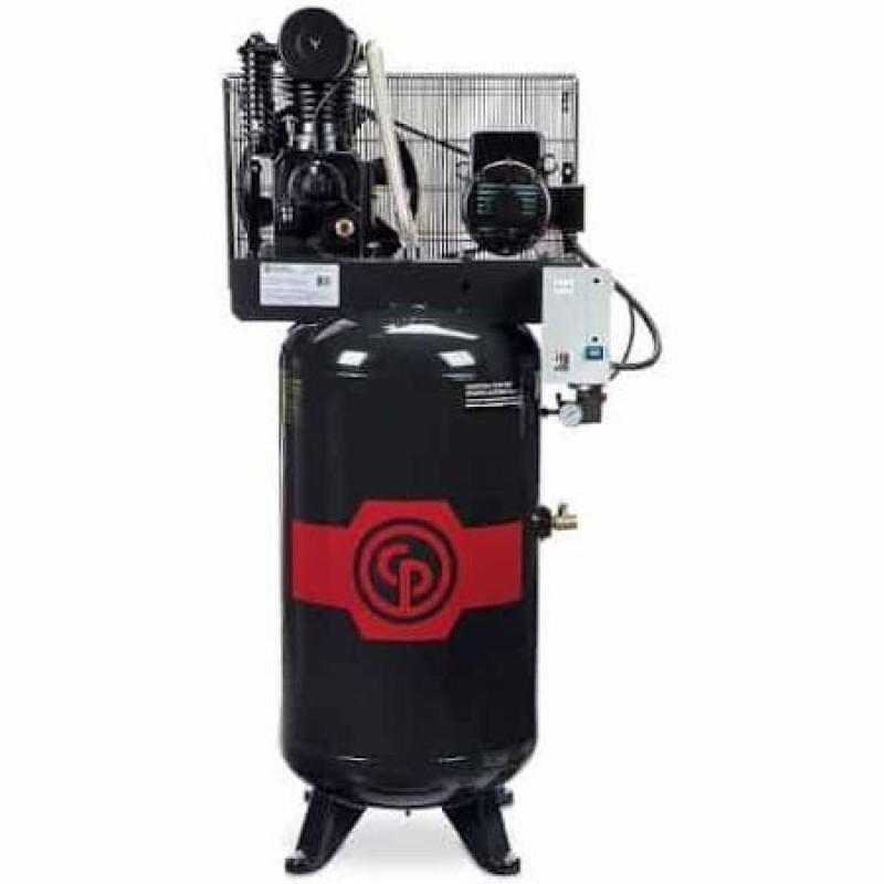 Chicago Pneumatic Reciprocating Air Compressor, 80 Gallon, 208-230 Volt, 1-Phase - 5 HP