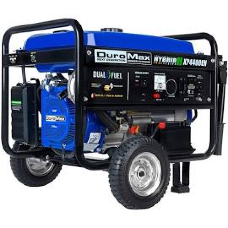 DuroMax Electric Start Dual Fuel Hybrid Portable Generator XP4400EH 4,400-Watt