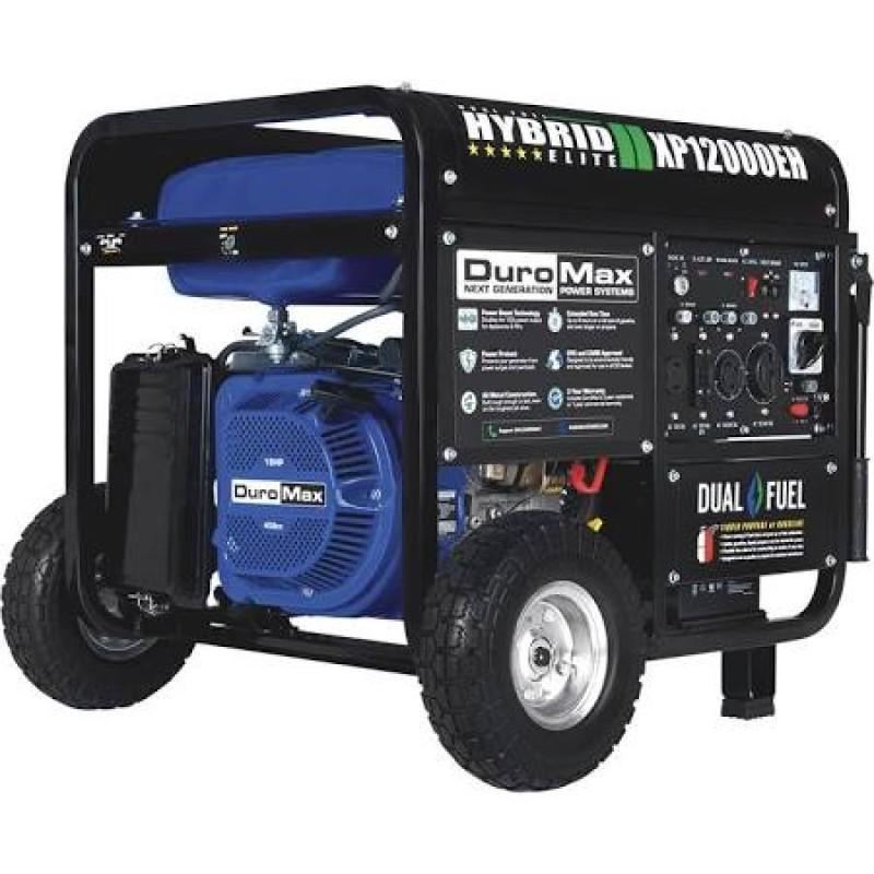 DuroMax Portable Gas Electric Start Generator RV Home Standby XP10000E 10000-Watt 18-Hp