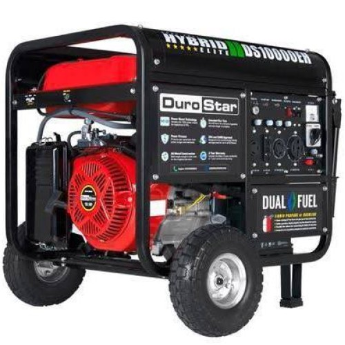 DuroStar Dual Fuel Hybrid Generator w- Electric Start DS10000EH 10,000-Watt 18-Hp