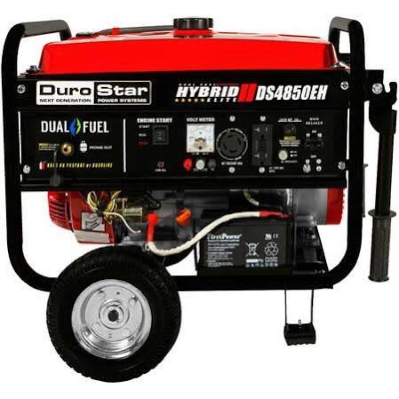 DuroStar Dual Fuel Hybrid Generator w- Electric Start DS4850EH 4,850-Watt