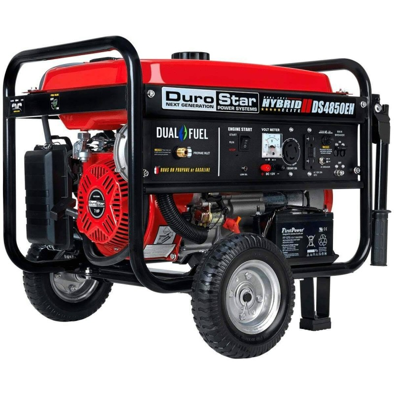 DuroStar Electric Start Dual Fuel Hybrid Portable Generator DS5500EH 5500-Watt
