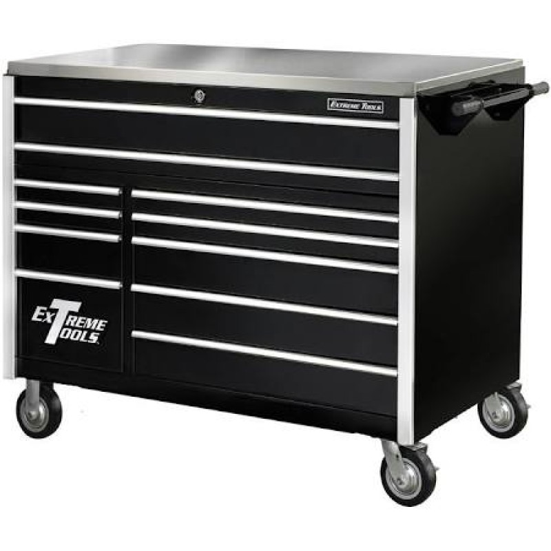 Extreme Tools 11 Drawer Pro Roller Cabinet- BLK 55 In.
