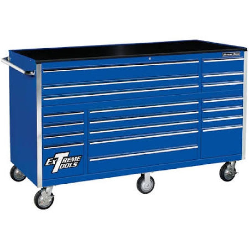 Extreme Tools 19 Drawer Roller Cabinet, Blue 72 In.