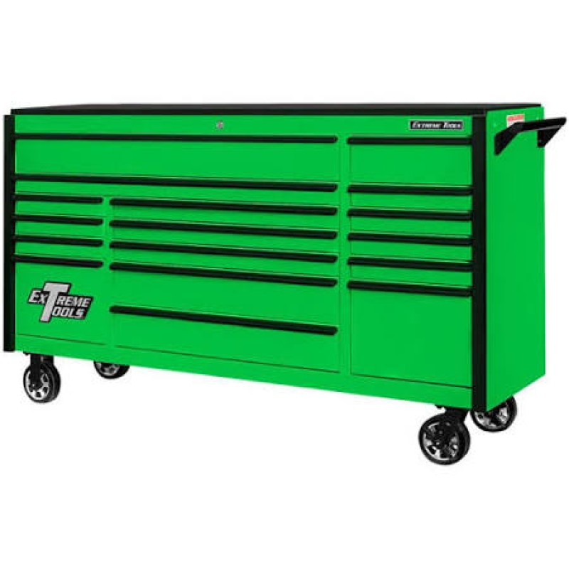 Extreme Tools H 17-Drawer Steel Rolling Tool Cabinet (Green) DX 72-in W x 42.75-in
