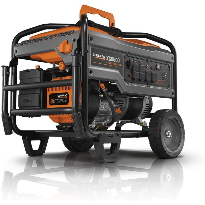 Generac Carb Compliant Portable Generator - XC6500, 6824 426cc 6,500-Watt
