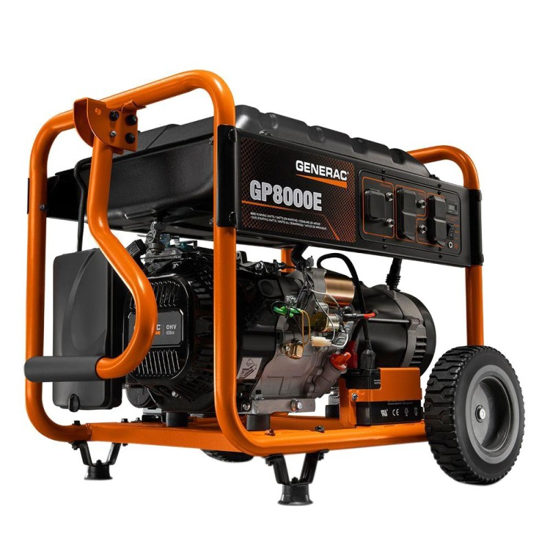 Generac Electric Start Gas-Powered Portable Generator 6954 420cc 8,000-Watt