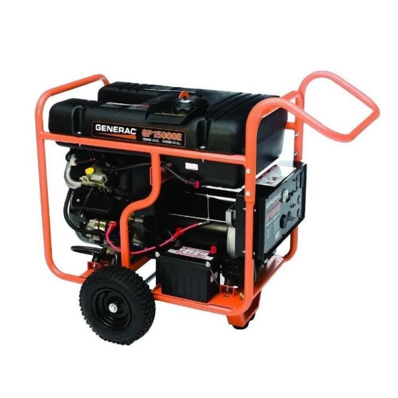 Generac Electric Start Portable Generator - 5734, GP15000E 992cc 15,000-Watt 120 or 240-Volt