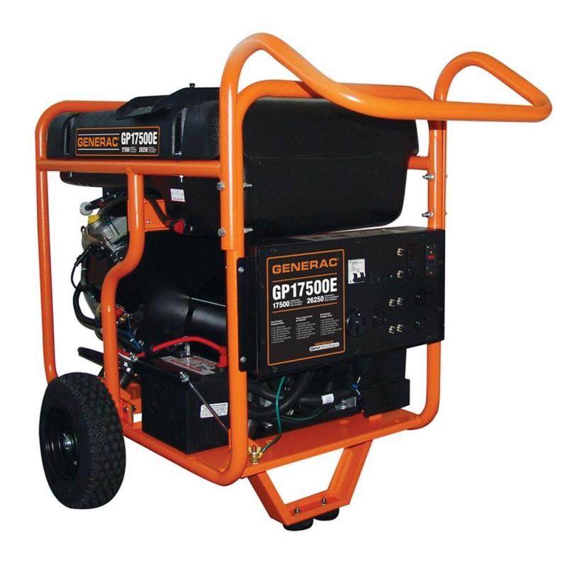 Generac Electric Start Portable Generator, GP17500E - 17,500 Watt