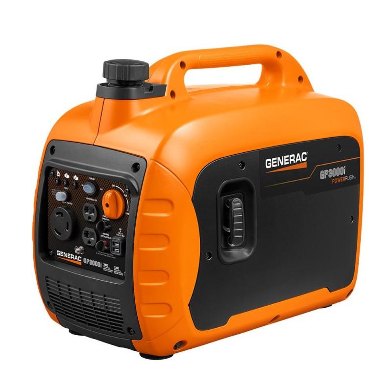 Generac Gas Powered Recoil Start inverter Generator - 7129, GP3000i 3,000-Watt