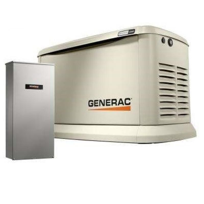 Generac Guardian Standby Generator System (200A Service Disconnect + AC Shedding) w- Wi-Fi, 11kW Aluminum