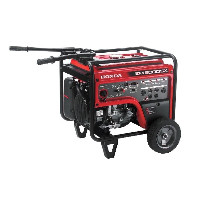 Honda Electric Start Gasoline Generator -  EM5000S 389cc 5,000-Watt 120-240-Volt