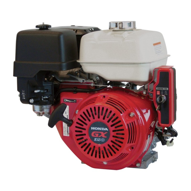 Honda Horizontal OHV Engine with Electric Start - Shaft, 389cc, GX Series, 1in. x 3 31-64in.