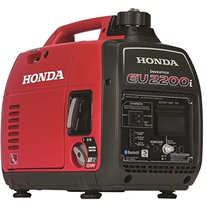 Honda Super Quiet Gas Powered Portable Inverter Generator -  EU2200i 2200-Watt 121cc