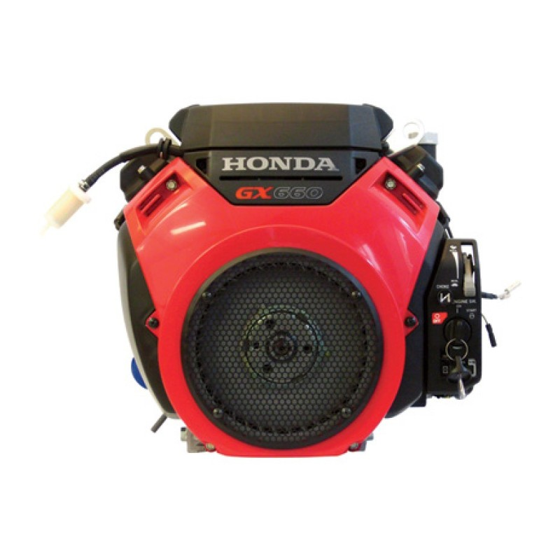 Honda V-Twin Horizontal OHV Engine with Electric Start – Shaft, 688cc, GX Series, 1 1-8in. x 3 31-32in.