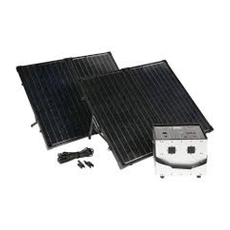 Humless Complete Solar Power System with Solar Generator - 1500 Rated Watts - 3000 Surge Watts.