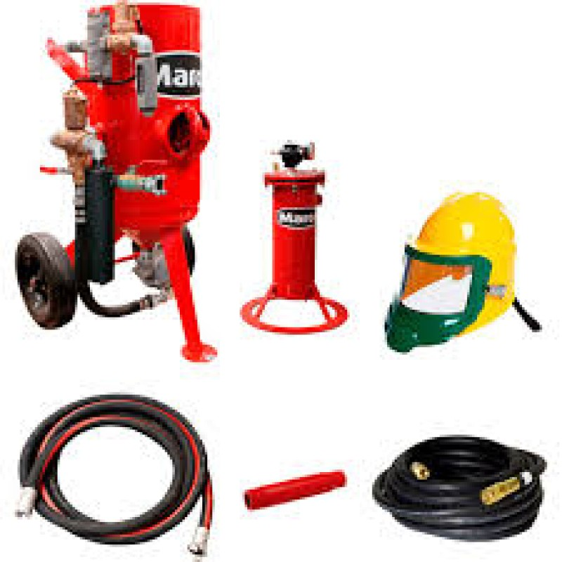 Marco Abrasive Blasting Package - Capacity, 3.0 Cubic Ft -300-Lb.
