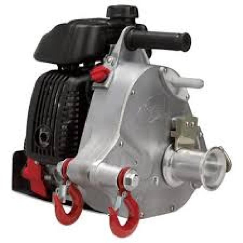 Portable Winch Gas-Powered Capstan Winch - 50cc Honda GHX-50 Engine, 1-Ton Capacity - 2.1 HP.