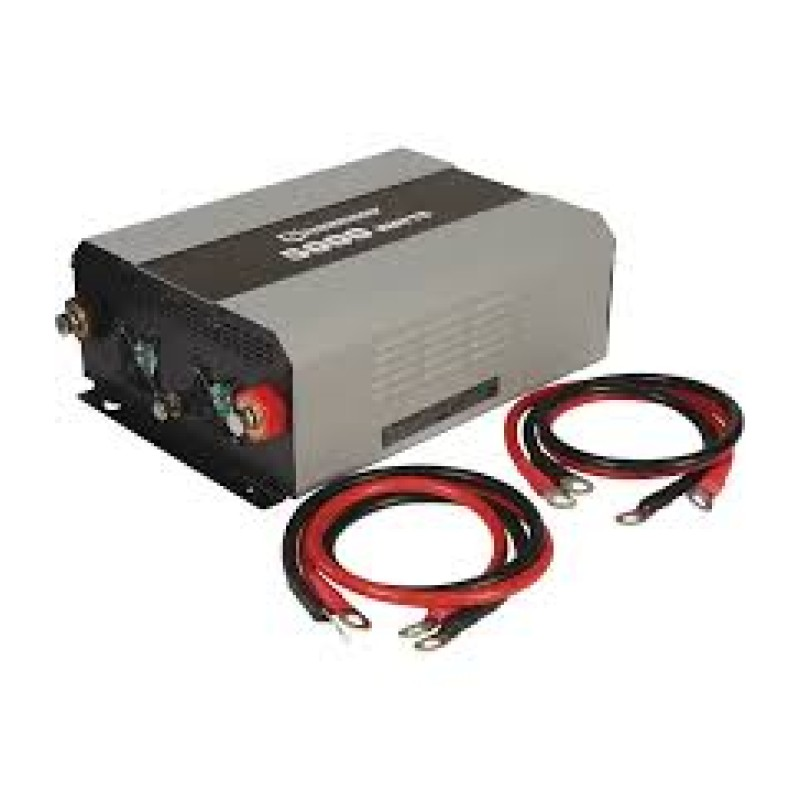 Strongway Modified-Sine Wave Portable Power Inverter with Cables - 4 Outlets-1 USB Port, 5000 Watts.
